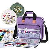 Luxja Aufbewahrungstasche für Stickereiprojekte, Stickerei-Sets (nur Tasche), Violett