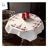 Vervaco Wichtel Stickpackung/Tischdecke im vorgedruckten/vorgezeichneten Kreuzstich, Baumwolle, Mehrfarbig, 80 x 80 x 0.3 cm