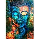 DIY 5D Diamant Malerei Buddha Sunnay Crystal Full Diamond Strass Malerei Zahlen-Set Kreuzstich Stickerei Craft, 30 x 40 cm