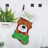 WZQ Weihnachtssockengeschenkbeutelhundekatzen-Umschlagsocken Weihnachtsbaumschmuck Weihnachtsdekorationen
