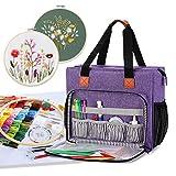 Luxja Tragetasche für Stickereiprojekte, Aufbewahrungstasche (nur Tasche), Violett