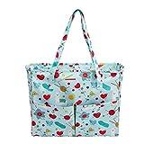 Odoukey Tote Bag Craft Bag Yarn Lagerung Nähen Beutel-Speicher-Einkaufstasche Oxford-Tuch für Stickerei-Projekt und Stricknadeln