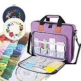 shiningwaner Sticktasche, Stickerei-Set, Organizer und Aufbewahrungstasche, Violett