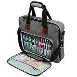 Kani Stickerei-Tasche, robuste Oxford-Aufbewahrungstasche für Häkelnadeln, Stricknadeln, Nähwerkzeug-Set