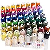 New brothreads 63 Brother Farben Polyester Maschinen Stickgarn - 550yds (500 Meter) für Stickereimaschine und Nähmaschine