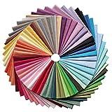 YXJDWEI 50 Stück Baumwollstoff Patchwork Stoffe DIY Gewebe Quadrate 100% Baumwolltuch Stoffpaket zum Nähen Mehrfarbig für Handarbeiten (30 x 30cm)