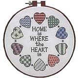 Dimensions Kreuzstich-Set (inkl. Vorlage, Nadel und Anleitung), Home and Heart