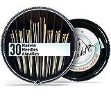 Nadelset mit 30 Nadeln in verschiedenen Stärken und Längen : stabil und vielseitig beim Nähen per Hand einsetzbar