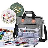 Luxja Aufbewahrungstasche für Stickereiprojekte, Stickerei-Sets (nur Tasche), Grau