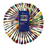 UMC STAG Premium Stickgarn in Regenbogenfarben, 100 % ägyptische Baumwolle, 50 Knäuel, Kreuzstich-Stickgarn, Öko-Tex-zertifizierte Baumwolle, ideal für Kunst und Handwerk, 50 Stück