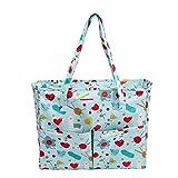 MICHAELA BLAKE Craft Tasche Stricken Einkaufstasche, Speichertragetasche Oxford-Tuch für Stickerei-Projekt und Stricknadeln