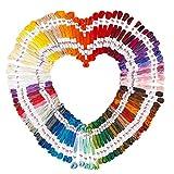 100 Döckchen Stickgarn aus 100% Baumwolle, je 8m, 6-fädig   100 verschiedene Farben   ideal zum Sticken, Nähen, Basteln, Häkeln, Freundschaftsbänder, Stickbilder, Kreuzstich
